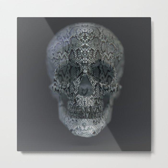 Snake Skull Metal Print