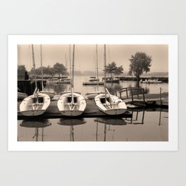 Charles Boats Art Print