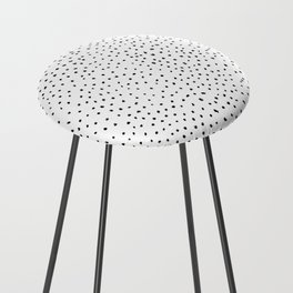 Dotted White & Black Counter Stool