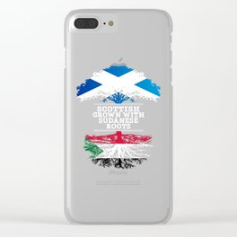 Scottish Grown With Sudanese Roots Clear iPhone Case