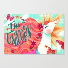 I AM A UNICORN Canvas Print