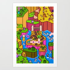 SMW World 2 Art Print