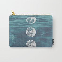 Moon on Blue Ocean Carry-All Pouch