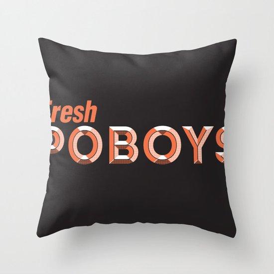 Fresh Poboys Throw Pillow