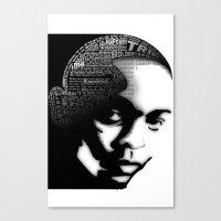 kendrick lamar Canvas Prints featuring Kendrick Lamar by Dee9922
