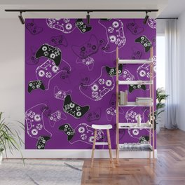 Video Game Purple Wall Mural