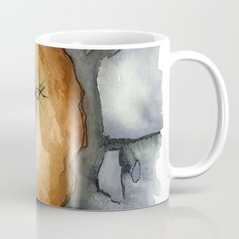 Amber Inclusion Watercolor Coffee Mug