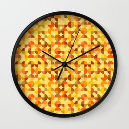Abstract geometric background Wall Clock