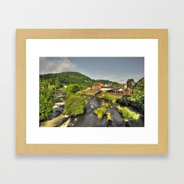 River Dee at Llangollen  Framed Art Print