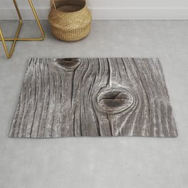 Naturally Aged Wood Plank rustic decor Rug
