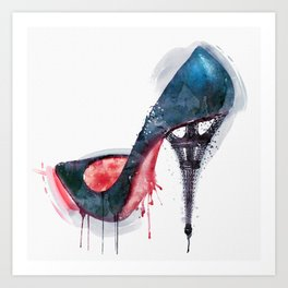 Eiffel Tower Shoe Art Print