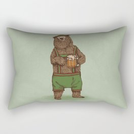 Traditional German Bear Rectangular Pillow
