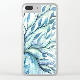 Tree of Life (blues) Clear iPhone Case