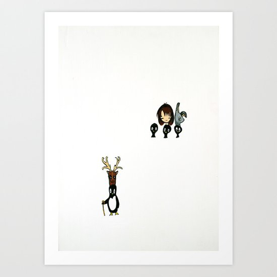 Penguin's Head Collection, is it halloween? Art Print