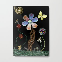 Happy Day in the Garden, Jewelry Scanography Metal Print