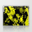 Fractured Warning - Black and yellow, abstract, textured painting by printpix