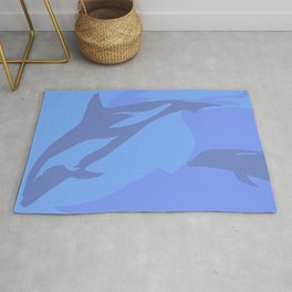 Dolphin Background Rug