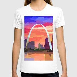 Saint Louis Riverfront Skyline T-shirt