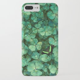 Lucky Green Clovers, St Patricks Day pattern iPhone Case