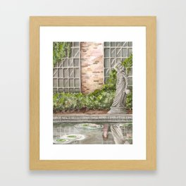 What Happens in the Garden Framed Art Print