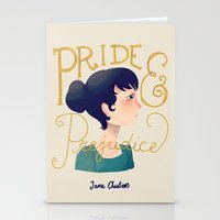 pride and prejudice Stationery Cards featuring Pride and Prejudice by Nan Lawson