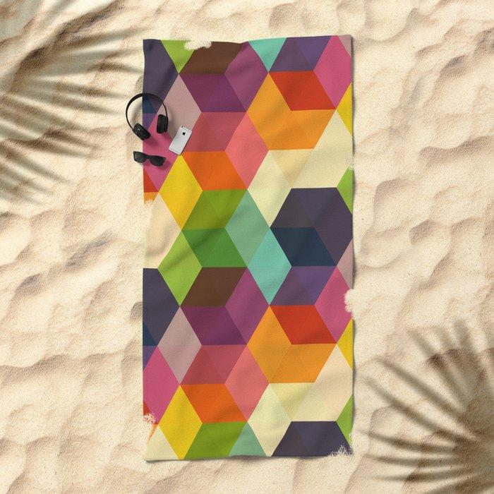 Retro Hexagonzo Beach Towel