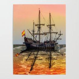 Sail Boston El Galeon Andalucia Poster