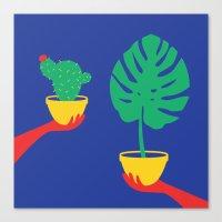 plants Canvas Prints featuring Plants by cristina benescu