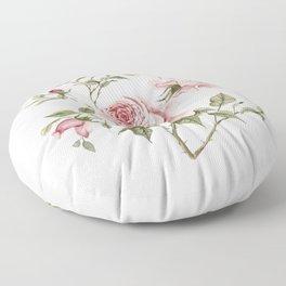 Pink Roses – Original Watercolor Floor Pillow