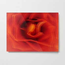 Flower Red Rose Abstract Metal Print