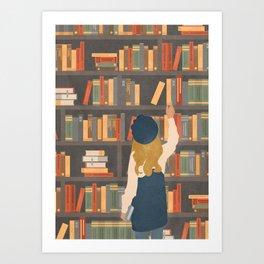 Library Love Art Print