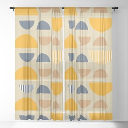 Some modern geometry Sheer Curtain