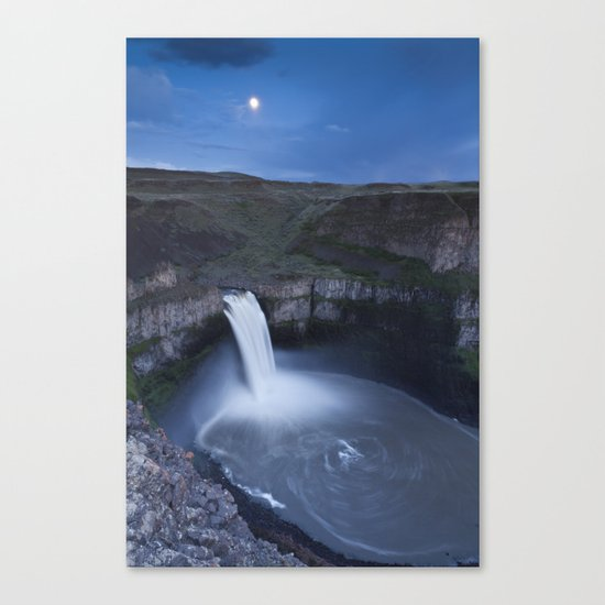 Palouse Falls Moon Canvas Print