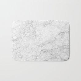 White Marble 009 Bath Mat