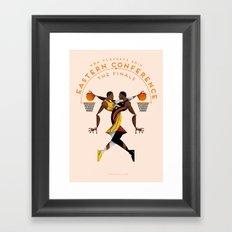 NBA PLAYOFFS 2014 - EASTERN CONFERENCE FINALS Framed Art Print