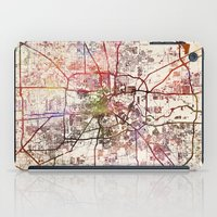 houston iPad Cases featuring Houston by MapMapMaps.Watercolors