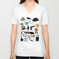 breaking V-neck T-shirts featuring Artifacts: Breaking Bad by Josh Ln