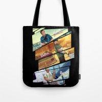 gta Tote Bags featuring Breaking Bad mashup GTA V  by Akyanyme