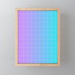 Vaporwave Gradient Framed Mini Art Print