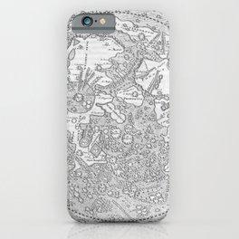 Hevelius' Selenographia - Map of the Moon 1647 iPhone Case