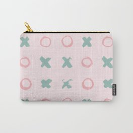 Contemporary X Paint Circles Pattern Carry-All Pouch