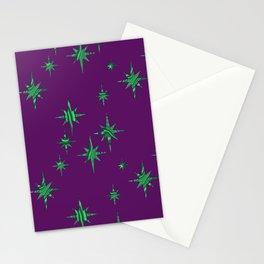 Malachite Stars Stationery Cards