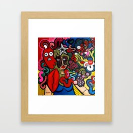 Her Inner Demons Framed Art Print