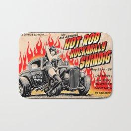 Hot Rod Rockabilly Shindig Bath Mat