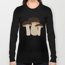 Brown Mushrooms T-Shirt for Women, Men and Kids Long Sleeve T-shirt