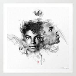 MJ x CB Art Print