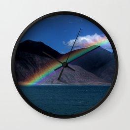 The Rainbow at Pangong! Wall Clock