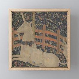 The Unicorn  In Captivity Framed Mini Art Print