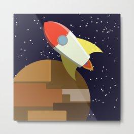 Rocket -or- buildarocketshipandwellflyitfaraway Metal Print
