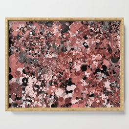 Digital Abstract in Rose Color Scheme Serving Tray